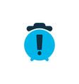 warning alarm icon colored symbol premium quality vector image vector image