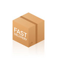 web banner for fast delivery box and e-commerce vector image