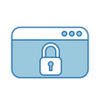 webpage with safe secure padlock icon vector image vector image