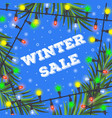 winter sale concept for your design vector image