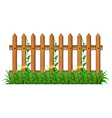 Wooden fence with vine vector image