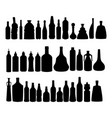 alcohol bottles silhouettes set vector image