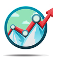 Mountain Stock market Icon Symbol vector image