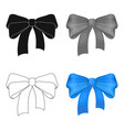 bow ribbon decoration and other web icon in vector image