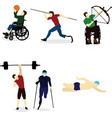 disabled people go in for sports vector image