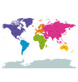 political world colored by continents with country vector image