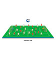 3d isometric football field with football teams vector image
