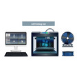3d printing set vector image vector image