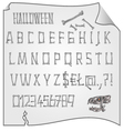 Alphabet from bones Halloween mystery fonts vector image vector image