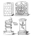 altars either square or round vintage engraving vector image vector image