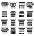 ancient greek roma column capitals vector image