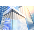 architecture transparent building vector image vector image