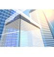 architecture transparent building vector image vector image