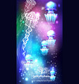 background with glowing vivid jellyfishes vector image vector image