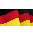 Background with waving German Flag vector image vector image