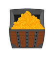 bitcoin chest treasures are crypto currency old vector image vector image