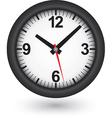 Black clock icon vector image