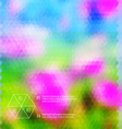 Blurred hexagon mosaic flower template vector image