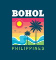 bohol philippines - concept vector image vector image