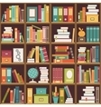 Bookshelf with books Seamless background vector image vector image