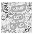 Boredom and variety Word Cloud Concept vector image vector image