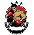 boxing athlete vector image vector image