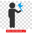 Child With Flag Eps Icon vector image vector image