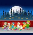 children are holding ramadan lantern vector image vector image