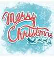 - Christmas sign with Santa vector image vector image