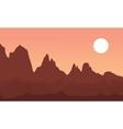 cliff landscape vector image