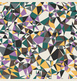 colored random small triangles bright crazy mosaic vector image
