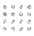 computer element icon set on white background vector image vector image