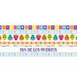 day dead dia de los muertos banner with vector image vector image