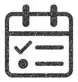 Day Tasklist Grainy Texture Icon vector image vector image