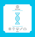 dna symbol icon vector image