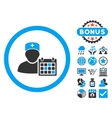 Doctor Appointment Flat Icon with Bonus vector image vector image