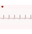 electronic cardiogram vector image vector image