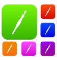 fountain pen set color collection vector image vector image