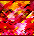 geometric pattern of pink yellow red triangles vector image