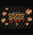 grand opening card with ribbon background vector image vector image