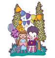 halloween and kids cartoons vector image