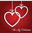 hanging hearts background 0912 vector image vector image