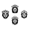 heraldry lions with crowns vector image
