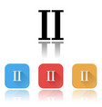 ii roman numeral icons colored set with vector image vector image