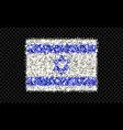 israel sparkling flag vector image vector image