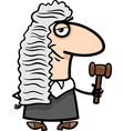 judge cartoon vector image vector image