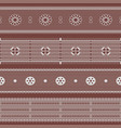 lace set seamless lacework ribbons vector image