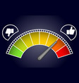 like measurement meter dashboard arrow vector image vector image