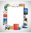 logistic colored composition vector image
