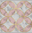 marble white and pink luxury geometric seamless vector image vector image
